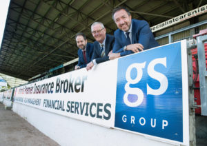 St Johnstone Football Club launch their first ever corporate partnership deal with the GS Group, pictured from left, Peter Robertson GS Group senior client Director, Stan Harris St Johnstone FC Director and George Stubbs GS Group Managing Director. see story by Gordon Bannerman 07729 865788 Picture by Graeme Hart.  Copyright Perthshire Picture Agency Tel: 01738 623350  Mobile: 07990 594431
